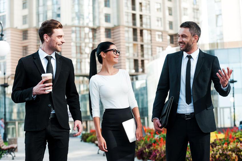Group of coworkers walking